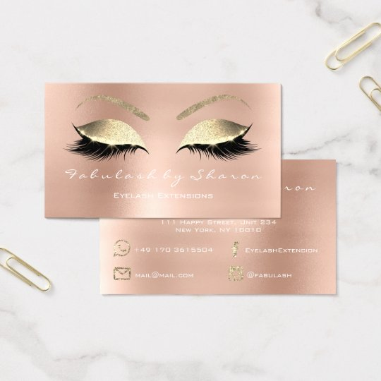 Make-upaugenbrauen-Peitschen-Glitzer-Diamant Visitenkarte