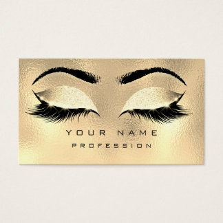 Make-upaugenbrauen-Peitschen-Glitzer-metallisches Visitenkarte