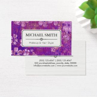 Make-uphaar-Art-modernes Vintages Blumenmuster #4 Visitenkarten