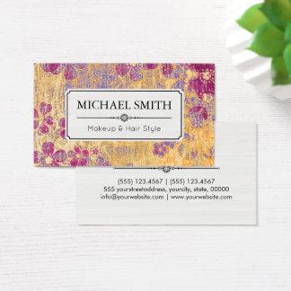 Make-uphaar-Art-modernes Vintages Blumenmuster Visitenkarten