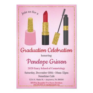Make-upkosmetik-Abschluss-Einladungs-Schönheit Karte