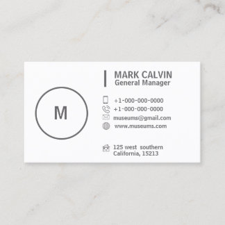 Make-upkünstler-berufliches weißes Grau Visitenkarte