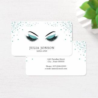 Make-upkünstler-Geschäftskarte mit Glittereffekt Visitenkarte