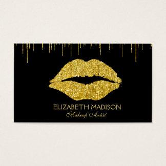 Make-upkünstler-Glitzer-Lippen Visitenkarte