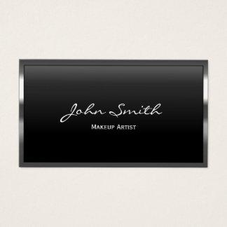 Make-upkünstler-Metallgrenzschönheits-Salon Visitenkarte
