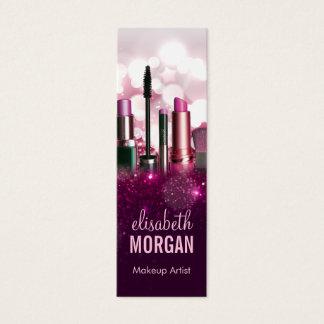 Make-upkünstler - rosa Schönheits-Glitter-kleiner Mini-Visitenkarten
