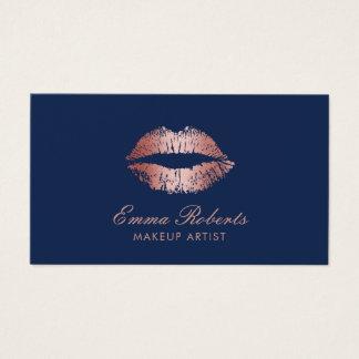 Make-upkünstler-Rosen-Goldlippenmarine-Blau-Salon Visitenkarte
