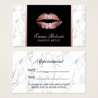 Make-upkünstler-Rosen-Goldlippenmarmorverabredung Visitenkarten