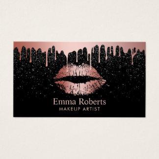 Make-upkünstler-Rosen-GoldlippenTrendy Bratenfett Visitenkarte
