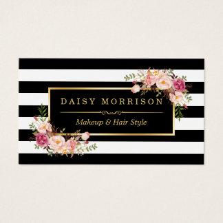 Make-upkünstler-Schönheits-Salon-GoldVintages Visitenkarten