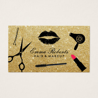 Make-upkünstler-u. Haar-Stylist-moderner Visitenkarte