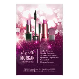 Make-upkünstlerCosmetician - rosa 14 X 21,6 Cm Flyer