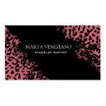 Make-upkünstleriii beruflicher Cosmetology-Leopard Visitenkarten Vorlage