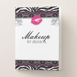 Make-uplippenglatter Lippenspitze-Taschen-Ordner Mappe