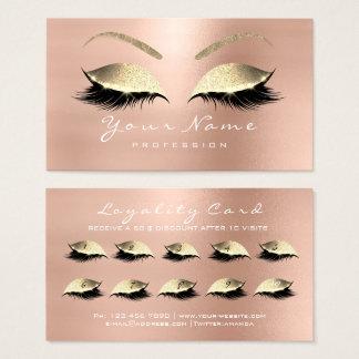 Make-uppeitschen-Erweiterungs-Rosen-Gold der Visitenkarte