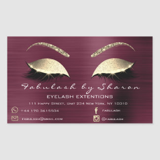 Make-upschönheits-Salon-Burgunder-Adressen-Luxus Rechteckiger Aufkleber