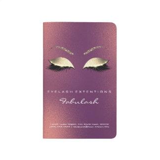 Make-upStylist-einbrennendes Taschennotizbuch