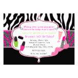 Make-upumarbeitungzebra-Geburtstags-Party Individuelle Einladungskarte