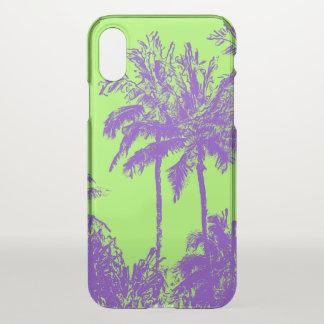 Makena Strand-hawaiische flüchtige Palmen Limon iPhone X Hülle