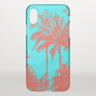 Makena Strand-hawaiische flüchtige Palmen Turq iPhone X Hülle