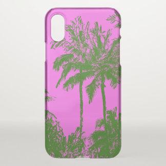 Makena Strand-hawaiisches flüchtiges Palmen-Rosa iPhone X Hülle