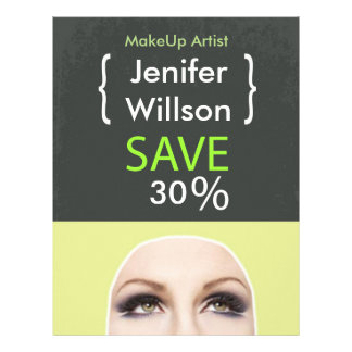 Makeup Artist Discount Offer 21,6 X 27,9 Cm Flyer