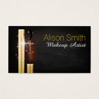 Makeup Artist/Goldener Sparkle Mascara Visitenkarte