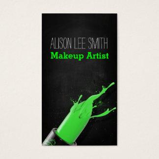 Makeup Artist/Green Lipstick Visitenkarte