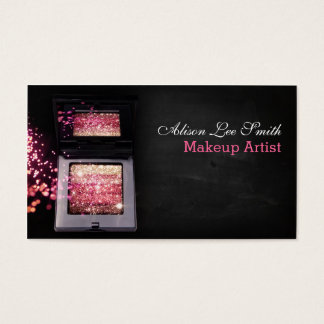 Makeup Artist/Pink Magic Shimmer Brick Visitenkarte