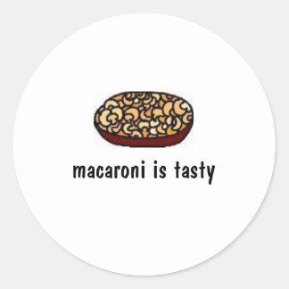 Makkaroni ist geschmackvoll runder aufkleber