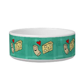 Makkaroni-Liebe-Käse, niedlicher Käse-Cartoon Mac Katzen-Näpfe