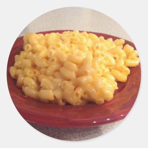 Makkaroni mit Käse Runde Aufkleber