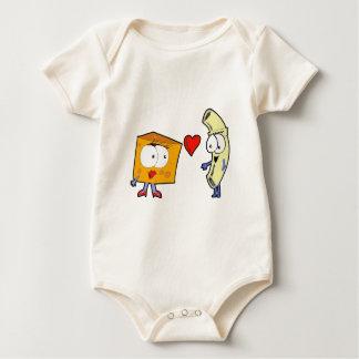 Makkaroni mit Käse Baby Strampler