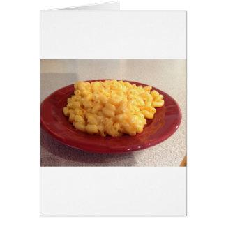 Makkaroni mit Käse Grußkarte