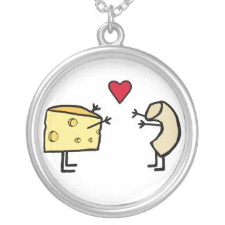 Makkaroni mit Käse-Halskette Halskette Mit Rundem Anhänger