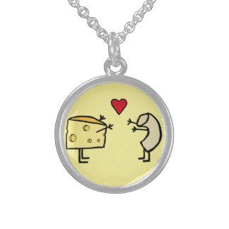 Makkaroni mit Käse-Halskette Sterlingsilber Halsketten