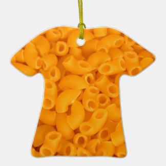 Makkaroni mit Käse Keramik T-Shirt-Ornament