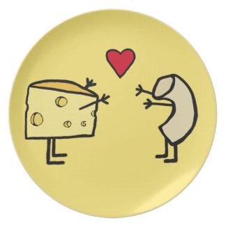 Makkaroni mit Käse-Platte Flacher Teller