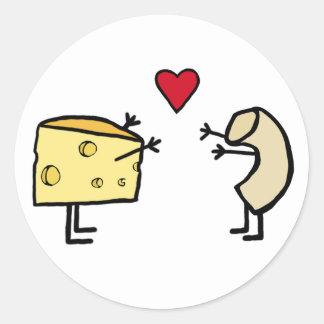 Makkaroni mit Käse Runder Aufkleber