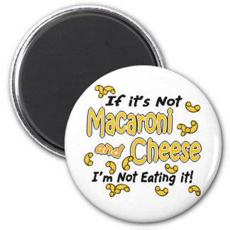 Makkaroni mit Käse Runder Magnet 5,1 Cm