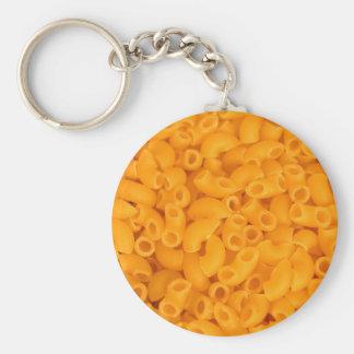 Makkaroni mit Käse Standard Runder Schlüsselanhänger
