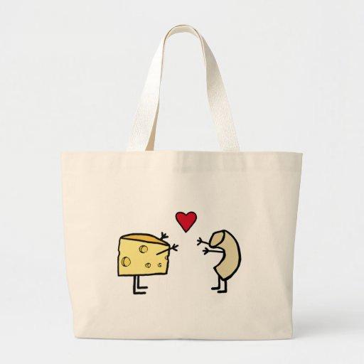 Makkaroni mit Käse Einkaufstaschen