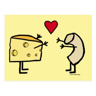 Makkaroni-und Käse-Liebe-Postkarte Postkarte