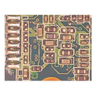 Makro einer Leiterplatte Postkarte