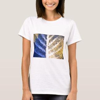 Makro mattiertes Blatt T-Shirt