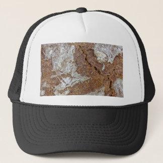 MakroFoto der Oberfläche des braunen Brotes von Truckerkappe