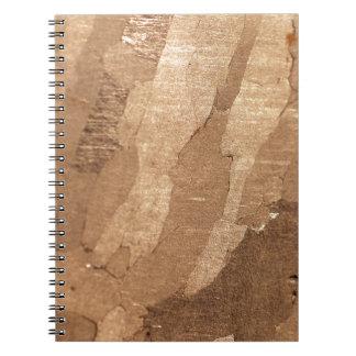 MakroFoto eines Eisenmeteorits Notizblock
