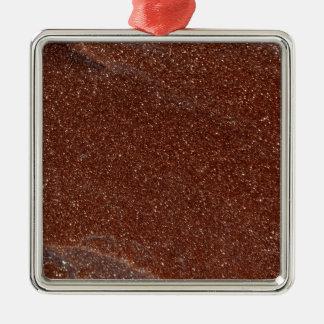 MakroFoto von Goldstone Glas Silbernes Ornament