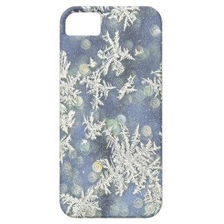 Makronatur-Fotografie Frost auf blauem Metall Schutzhülle Fürs iPhone 5