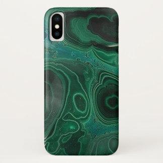 Malachit Geode iPhone X Hülle